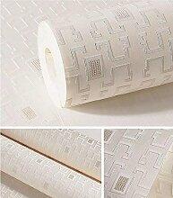 ZQ@QXNon woven lattice Stoffen, modernen Wohnzimmer, Schlafzimmer Tapete, Tapeten, 53*1000cm, EIN