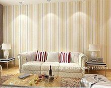 ZQ@QXTV-Kulisse_stereo Streifen Tapete Schlafzimmer Wohnzimmer TV-Kulisse Tapete, gelb