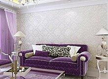 ZQ@QXVliesgewebe, Europäischen Wohnzimmer, Schlafzimmer, Wallpaper, 53*1000cm, B