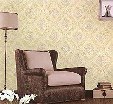 ZQ@QXVliesgewebe, Europäischen Wohnzimmer, Schlafzimmer, Wallpaper, 53*1000cm, EIN