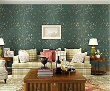 ZQ@QXVliesgewebe, kleine Knospe, Schlafzimmer, Wohnzimmer, Tapete, Tapeten, 53*1000cm, grün 1.