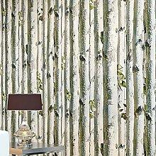 ZQ@QXWald Bäume, modernen, minimalistischen Holz, Tapete, Tapeten 53*1000 cm, Asche