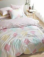 ZQ shuian®reactive Druck 4pcs frischen Satz Bettlaken Bettbezug Kopfkissenbezug Heimtextilien Bettwäsche