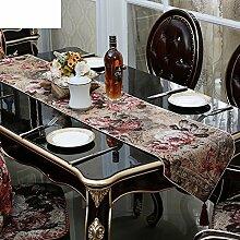ZQ STORE European-style luxus esstisch tisch läufer tischdecke,Tee tischläufer-A 34x240cm(13x94inch)