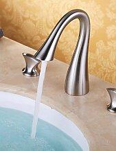 ZQ Waschbecken Armaturen Zeitgenössische Wasserfall Messing Nickel