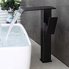 ZQ Waschbecken Wasserhahn mit Einhand KUGEL geformt Single behandeln zwei Bohrungen für Öl eingerieben Bronze