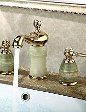 ZQ Waschbecken Wasserhahn weit verbreiteten zeitgenössischen Design ti-PVD-Finish Wasserhahn