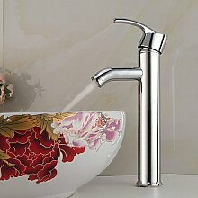 ZQ Zeitgenössische Messing Chrom Finish Wasserfall Waschbecken Wasserhahn