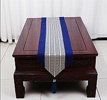 ZQG® Tischläufer Einfache moderne Meerwasser amerikanische pastoralen Kaffee Tischtuch Tischdecken Tischsets Flagge Bett Bettende Handtuch Striped Home Textile Tischdecken Leinen Tischdecke D 33*180cm