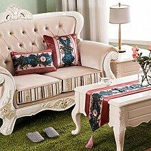 ZQG® Tischläufer gesamte Netzwerk Ausgangs Mode Striped Home Textile Tischdecken Leinen Tischdecke 3