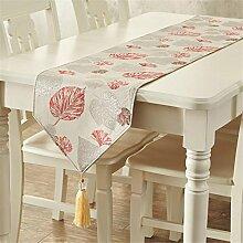 ZQG® Tischläufer Mode amerikanisch dicke Baumwolle Im Land Western Tischdecken Couchtisch Schrank TV-Schrank Meal Beistellschrank Striped Home Textile Tischdecken Leinen Tischdecke B 35*220