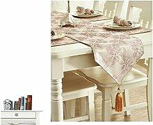 ZQG® Tischläufer Mode amerikanisch dicke Baumwolle Im Land Western Tischdecken Couchtisch Schrank TV-Schrank Meal Beistellschrank Striped Home Textile Tischdecken Leinen Tischdecke A 35*180