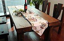 ZQG® Tischläufer moderne einfach chinesischer Stil Fluid Systems Tischtuch TV-Schrank Tischdecken Striped Home Textile Tischdecken Leinen Tischdecke C 30*200CM