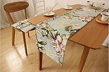 ZQG® Tischläufer moderne einfach chinesischer Stil Fluid Systems Tischtuch TV-Schrank Tischdecken Striped Home Textile Tischdecken Leinen Tischdecke B 30*180CM