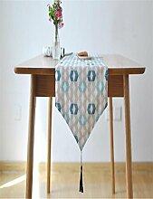 ZQG® Tischläufer Tischfahne amerikanische Flagge frisches Bett von weichen Laden Flag House Hotel Striped Home Textile Tischdecken Leinen Tischdecke 30*180cm