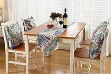 ZQG® Tischläufer Vermischung TV-Schrank Teetisch Tischdecken Fluid Systems Aquarell kleine frische Landschaft Stil Striped Home Textile Tischdecken Leinen Tischdecke D 30*200CM