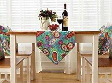 ZQG® Tischläufer Vermischung TV-Schrank Teetisch Tischdecken Fluid Systems Aquarell kleine frische Landschaft Stil Striped Home Textile Tischdecken Leinen Tischdecke B 30*180CM