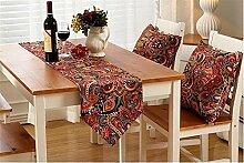 ZQG® Tischläufer Vermischung TV-Schrank Teetisch Tischdecken Fluid Systems Aquarell kleine frische Landschaft Stil Striped Home Textile Tischdecken Leinen Tischdecke F 30*160CM
