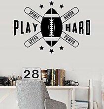 zqyjhkou American Football Vinyl Wandaufkleber
