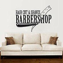 zqyjhkou Barbershop Vinyl Wandtattoo Hair Cut