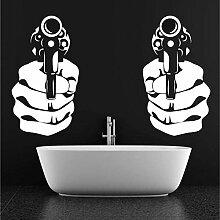 zqyjhkou Doppelhand Mit Pistole Jungen Name