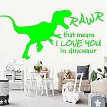 zqyjhkou Exquisite Big Dinosaur Vinyl Tapete Für