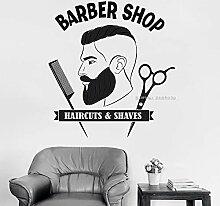 zqyjhkou Hot Barber Shop Mann Salon Wandtattoos