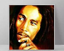 zqyjhkou Kein Rahmen Bob Marley Gemälde für