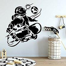 zqyjhkou Kreative Skateboard Wandkunst Aufkleber