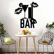 zqyjhkou Moderne Bar Wein Abnehmbare Art Vinyl