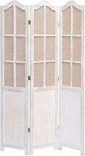 Zqyrlar - 3-teiliger Raumteiler Weiß 105 x 165 cm