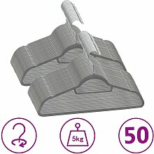 Zqyrlar - 50 Stk. Kleiderbügel-Set Anti-Rutsch