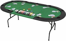 Zqyrlar - 9-Spieler Poker Falttisch 3-fach Faltbar
