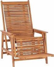 Zqyrlar - Garten-Loungestuhl mit Fußablage Teak