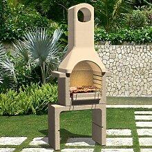 Zqyrlar - Holzkohle-Grillkamin aus Beton mit