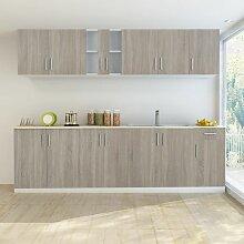 Zqyrlar - Küchenzeile mit Spülenunterschrank 8-