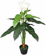 Zqyrlar - Künstliche Calla-Lilie mit Topf 85 cm