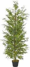 Zqyrlar - Künstliche Pflanze Zypresse mit Topf