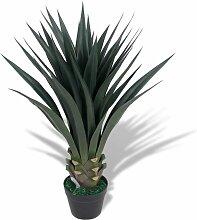 Zqyrlar - Künstliche Yucca-Pflanze mit Topf 90 cm