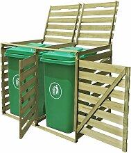 Zqyrlar - Mülltonnenbox für 2 Tonnen 240 L