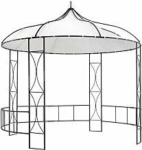 Zqyrlar - Pavillon 300 x 290 cm Weiß Rund