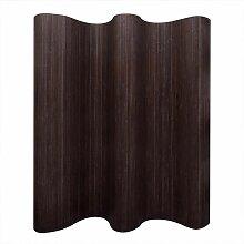 Zqyrlar - Raumteiler Bambus Dunkelbraun 250x165 cm