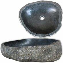Zqyrlar - Waschbecken Flussstein oval 46-52 cm