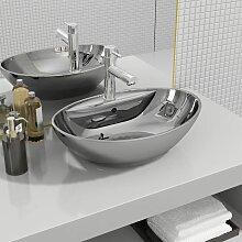 Zqyrlar - Waschbecken mit Überlauf 58,5 x 39 x 21