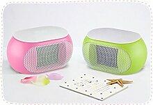 ZR Elektroheizung PTC-Keramikheizung Mini Reinige Die Luft Zwei Farben ( Farbe : Grün )
