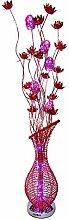 ZRABCD Aluminium-Led-Blumen-Vase-Stehleuchte -