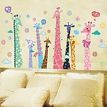 ZRDMN Wandaufkleber Cartoon Farbe Giraffe Tapete