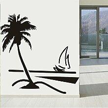 ZRDMN Wandaufkleber Coconut Beach Segelschiff