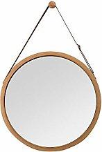 ZRI Bamboo Wandspiegel Rund Flur Spiegel