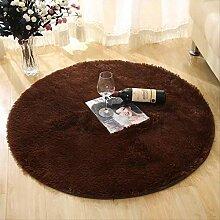 zrunleaf Runde Teppiche, Flauschiger Teppich,